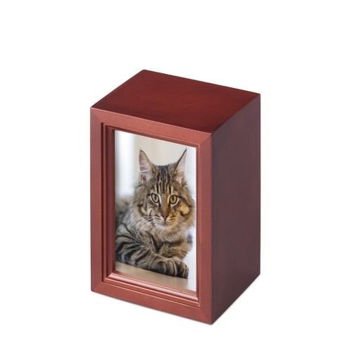 Pet Wooden photo Urn- Medium - SKU:014C-M