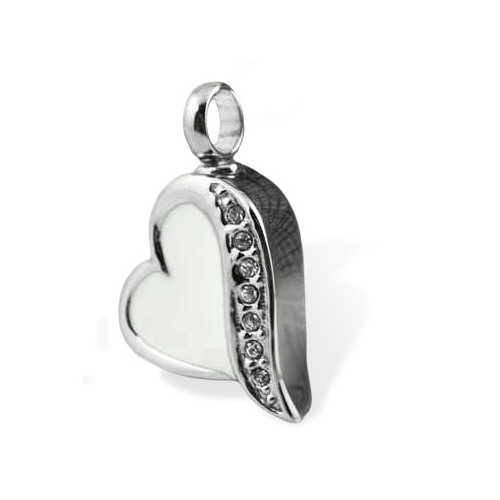 White Love Heart - SKU:610