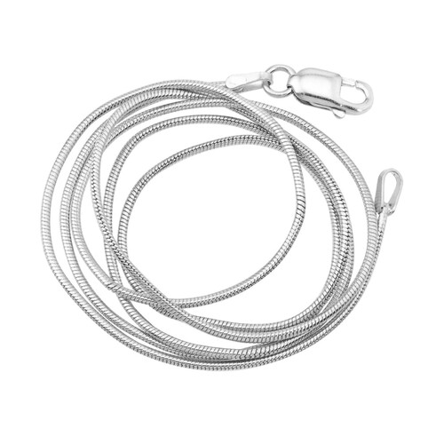 Basic Brass Snake Chain - Silver Colour 50cm